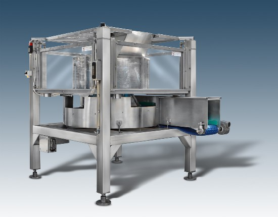 full automatic dryer with loading from top and specific for leafy products, vegetables and brine products